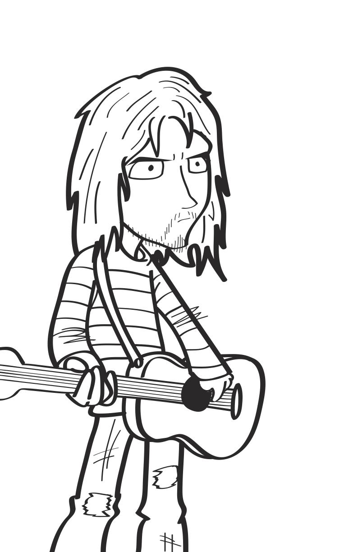 nirvana coloring pages   Kurt Cobain by villafanart on DeviantArt