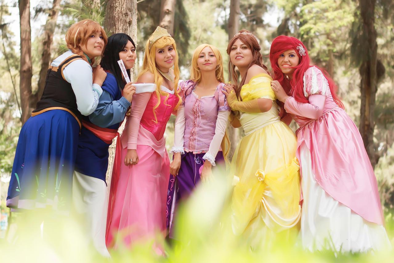 All Princesses Together By Sabrina200415 On Deviantart