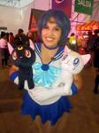 Sailor Mercury with Luna and Artemis