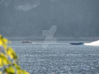 Speed boat on Mara Lake