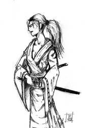Crane Clan Samurai-ko by johnbty