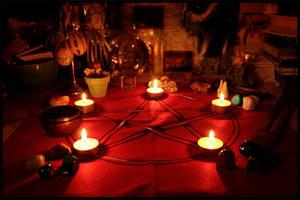 Ostara Altar by ReanDeanna