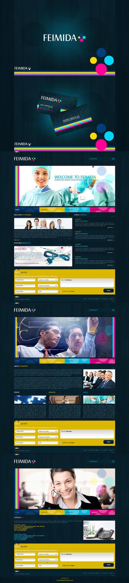 Feimida Corporate Identity by waseemarshad