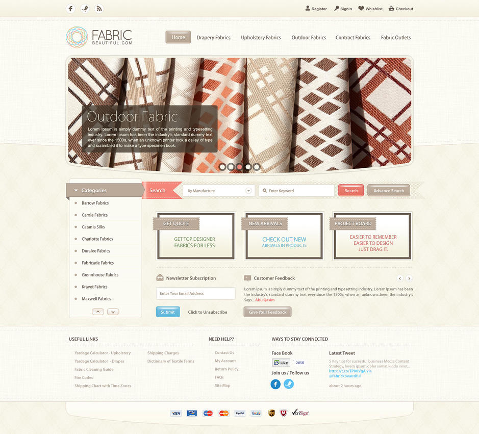 Fabric Beautiful Website by waseemarshad