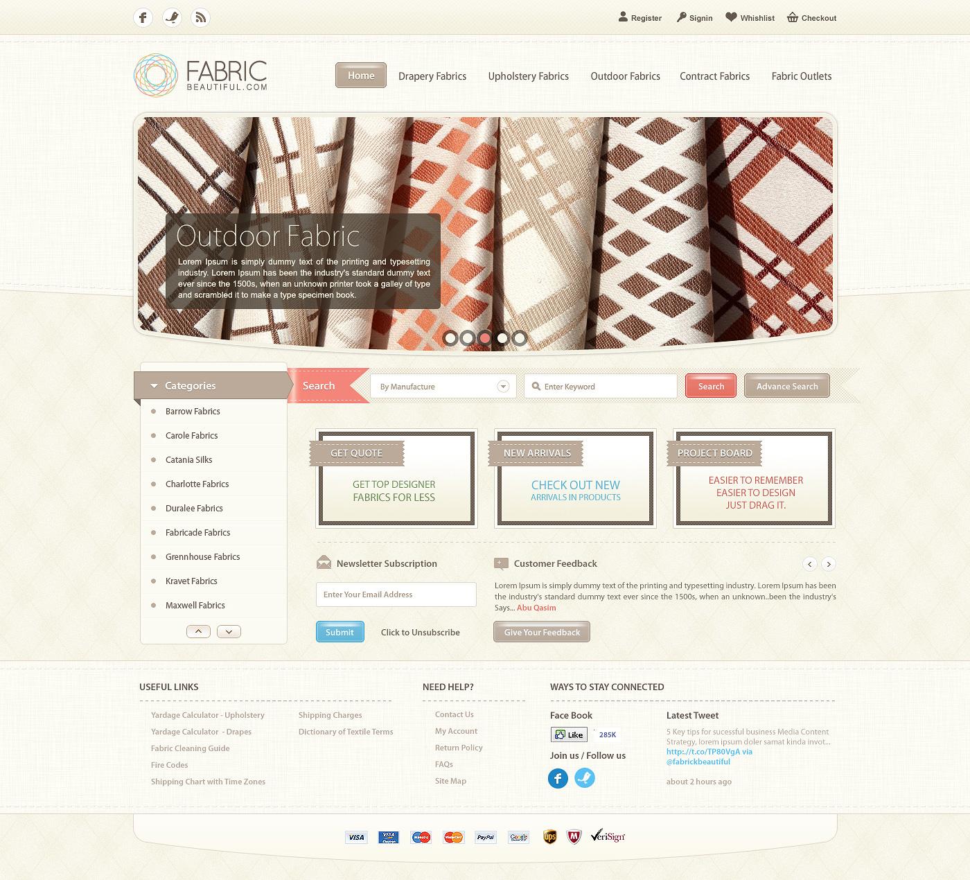 Fabric Beautiful Website by waseemarshad