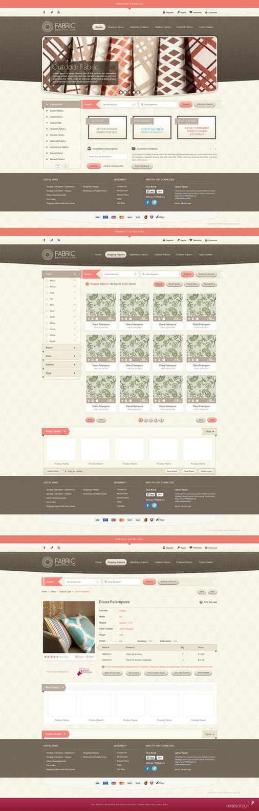 Fabric Beautiful Full Website by waseemarshad