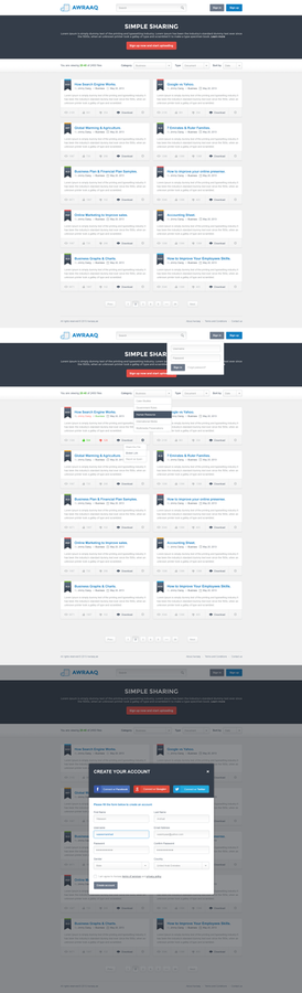 Document Sharing Website