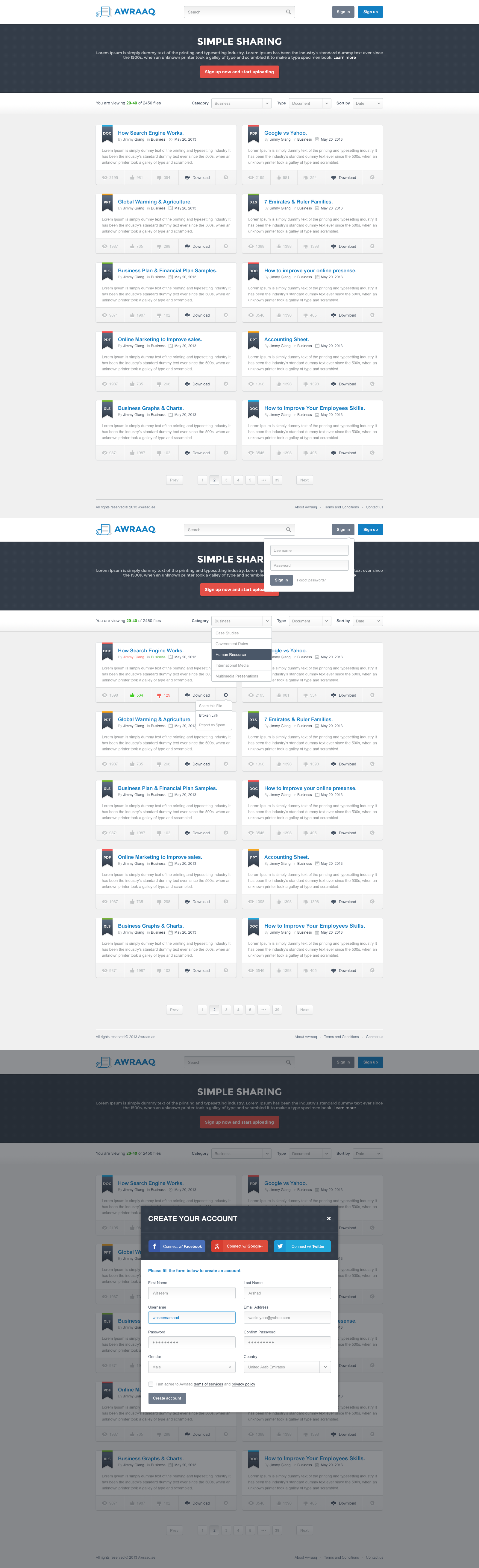 Document Sharing Website by waseemarshad