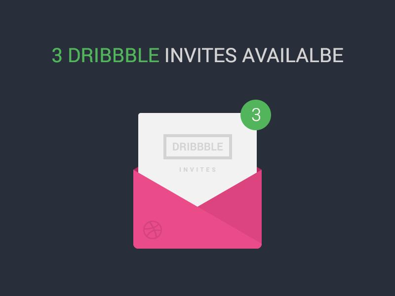 3 Dribbble Invites by waseemarshad