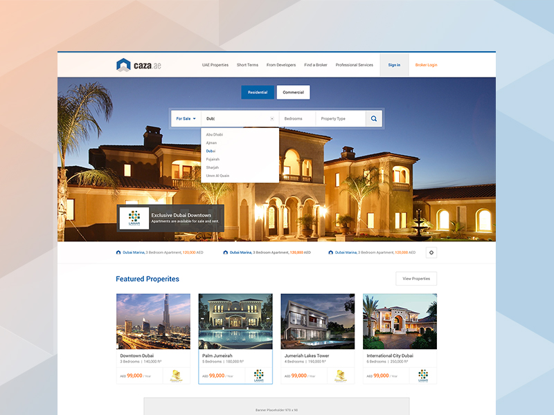 Property Listing Website / Ui Ux by waseemarshad