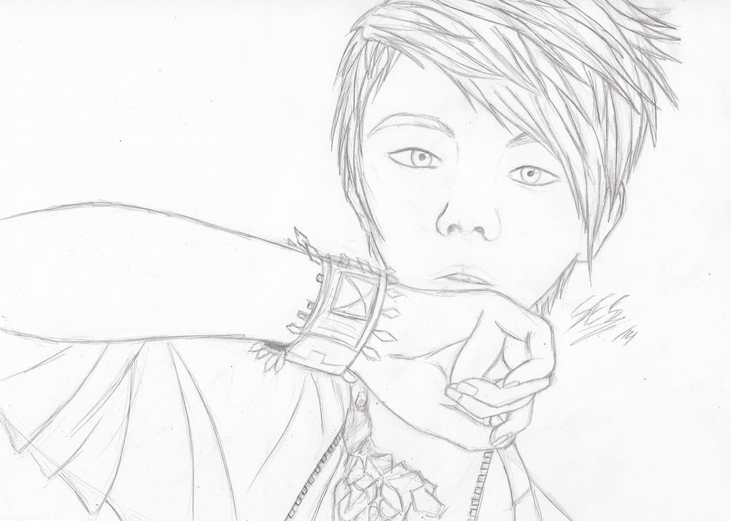 Yang Yoseob Sketch by SilverEyeShinobi