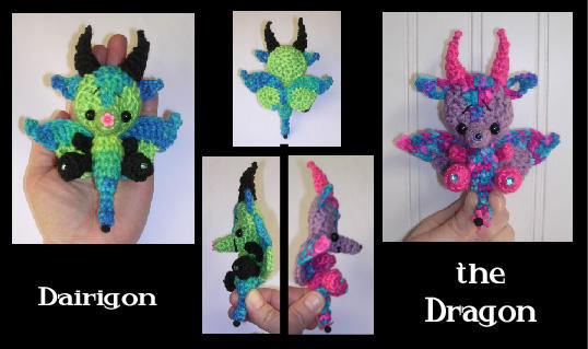 Amigurumi Mini Dragon Crochet Pattern | 319x538