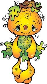 Pumpkin Doll Clipart from a long time ago! by peggytoes