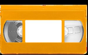 Orange VHS tape template