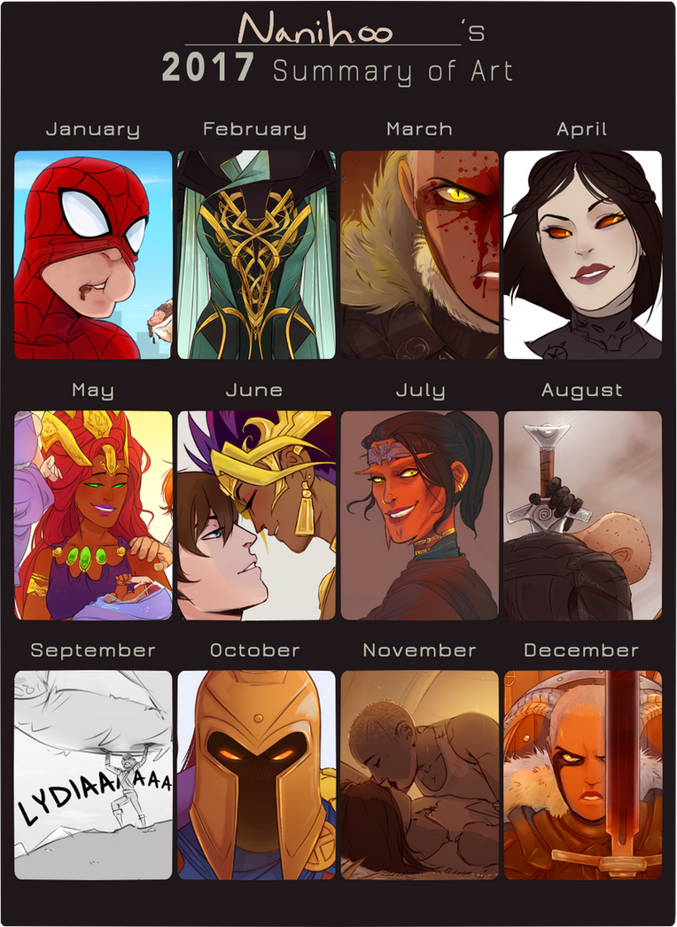 2017 Art summary by Nanihoo