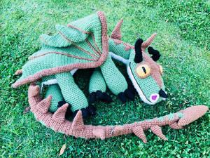 Terrible Terror Crochet Dragon - Pattern
