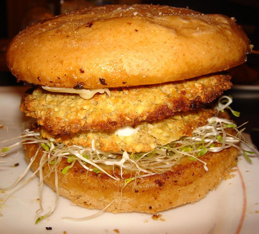 Gluten Free Falafel Burger by KunoichiVixen