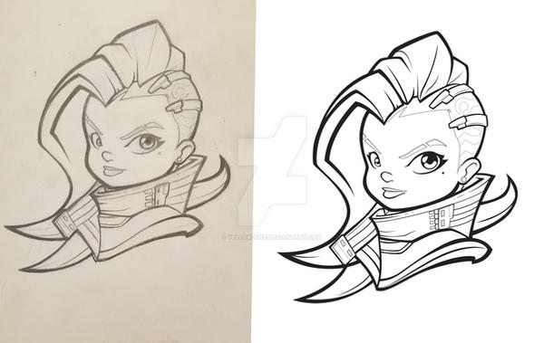 Sombra or Bust. WIP. Lines by yellow-five