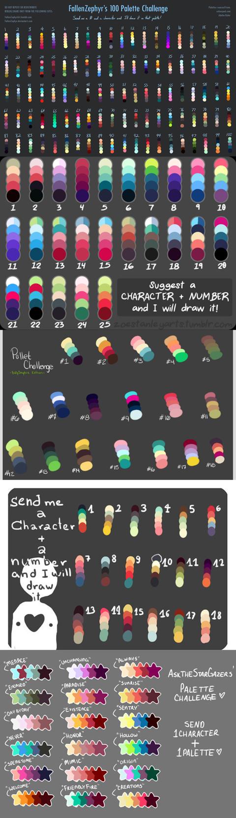 Palettes by emilythesmelly