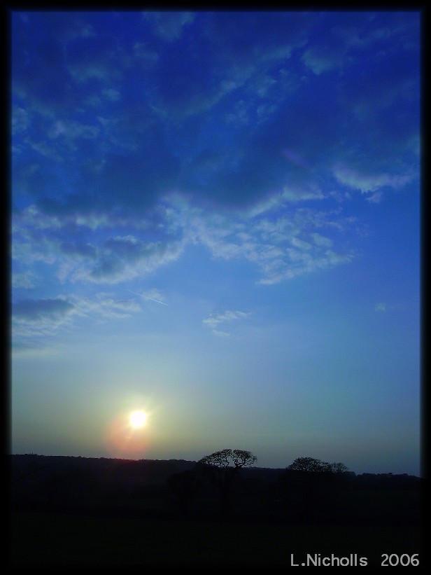 Blue Sunset by hellfire321