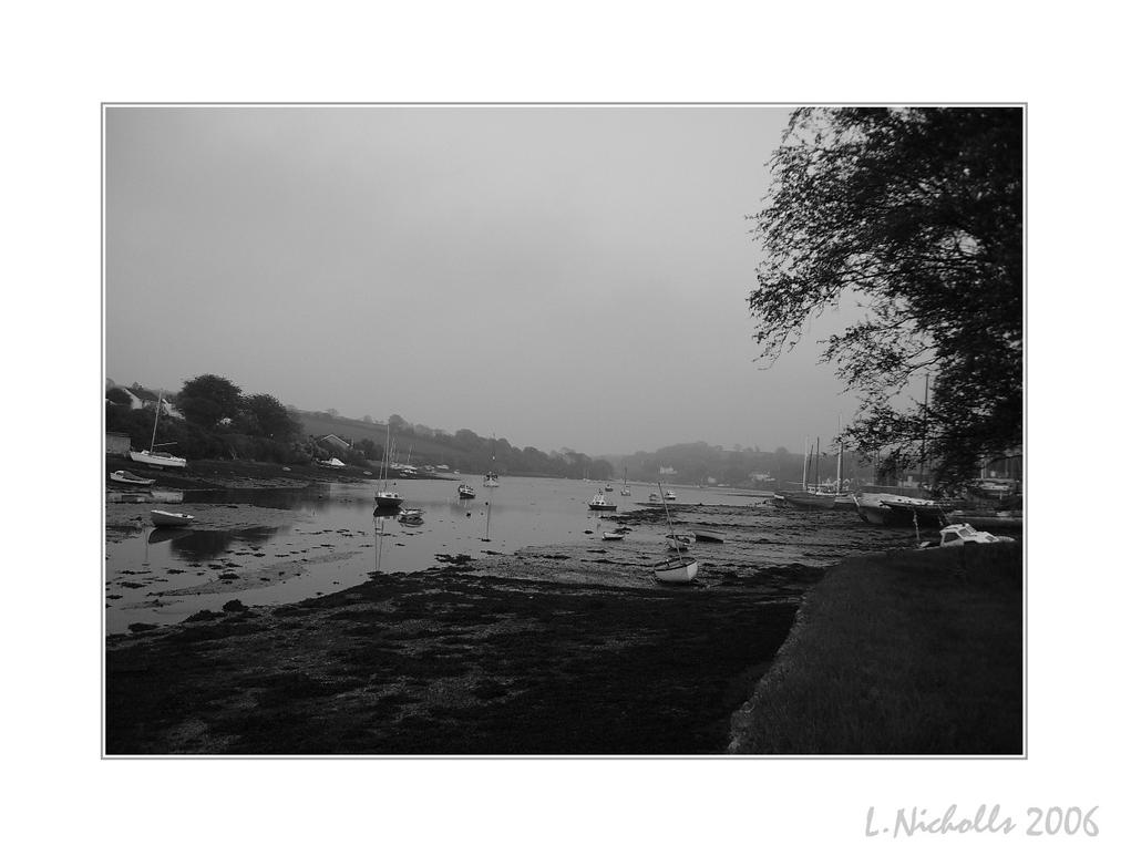 River Full View In B And W by hellfire321