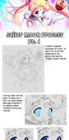 Sailor Moon Process Part 1 by Tetiel