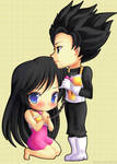 Gohan and Videl by Tetiel