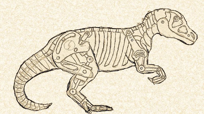 Allosaurus Construct Sketch by IconoKlasm