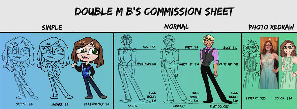 Commission Sheet by doublemb