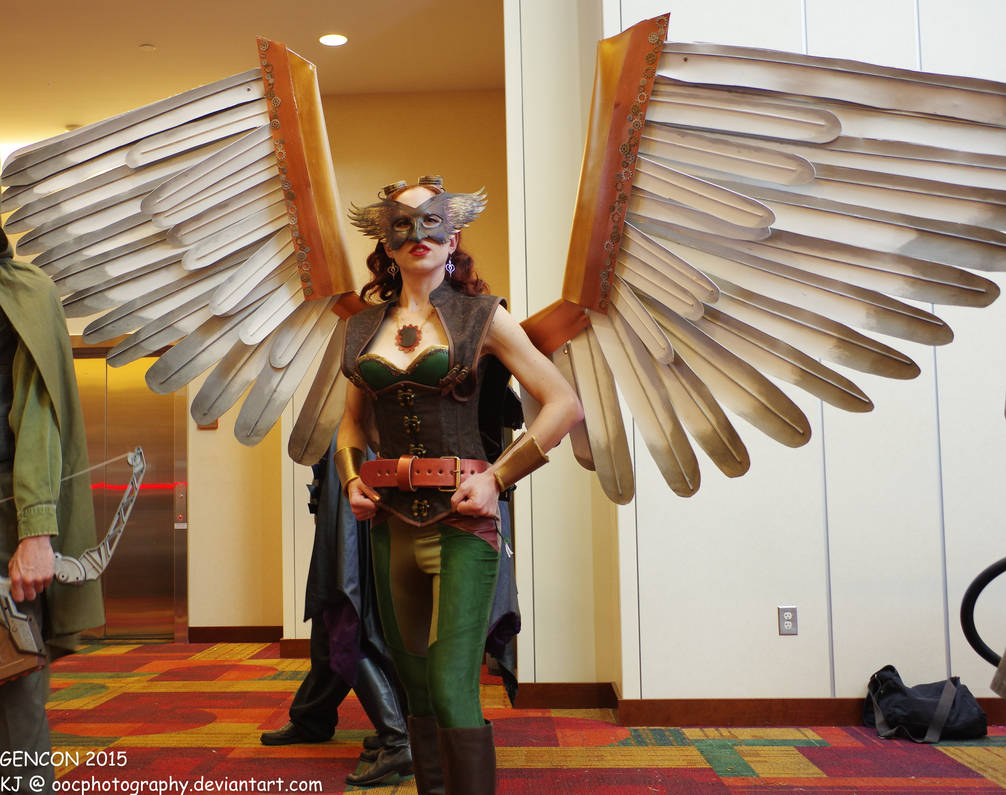 Steampunk Hawkgirl!  Please and thank you! by OOCPhotography