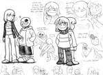 Doodles of Frisk, Sans, and Chara