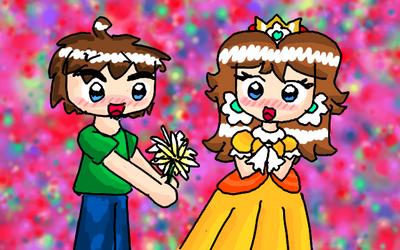 RQ- MarioBlade64 and Daisy by Peach-X-Yoshi