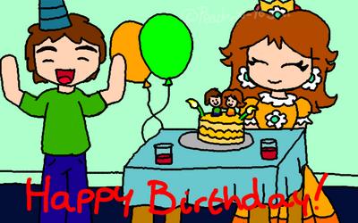 Happy Birthday MarioBlade64 by Peach-X-Yoshi