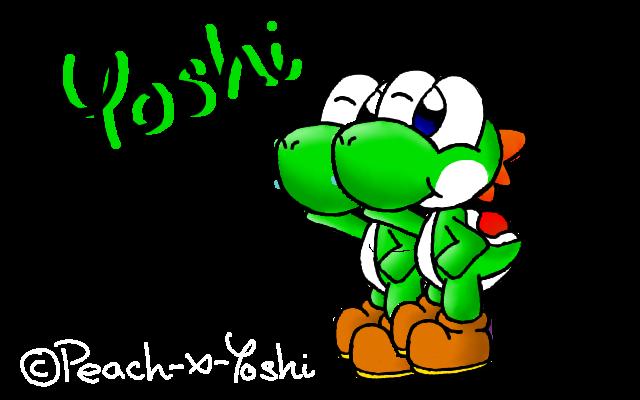 Chibi green yoshi by Peach-X-Yoshi