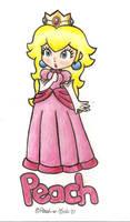 .:Princess Peach:. by Peach-X-Yoshi