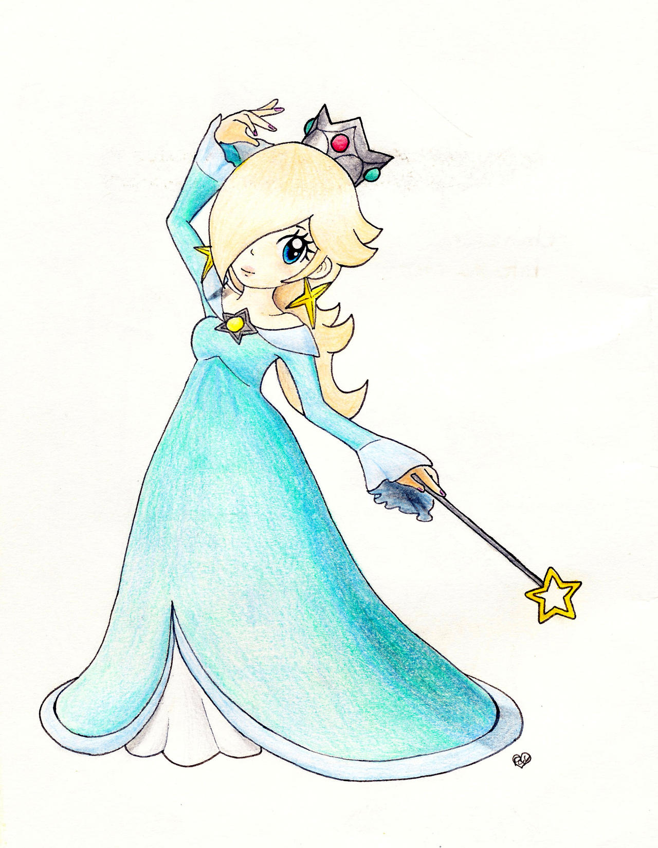 Princess Rosalina in her Mario Party 10 pose!~ by Peach-X