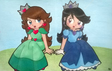 Gift: Cherry and Azura by Peach-X-Yoshi