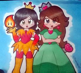 Gift: Cherry and Skyla by Peach-X-Yoshi