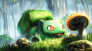 excited bulbasaur by 000SanS000