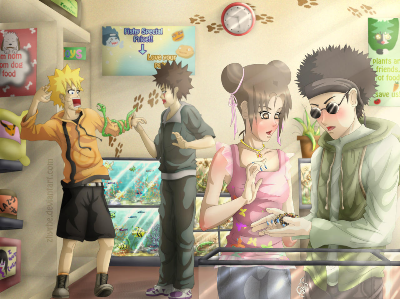 Shino x TenTen - Petshop by Zhyrhe on DeviantArt