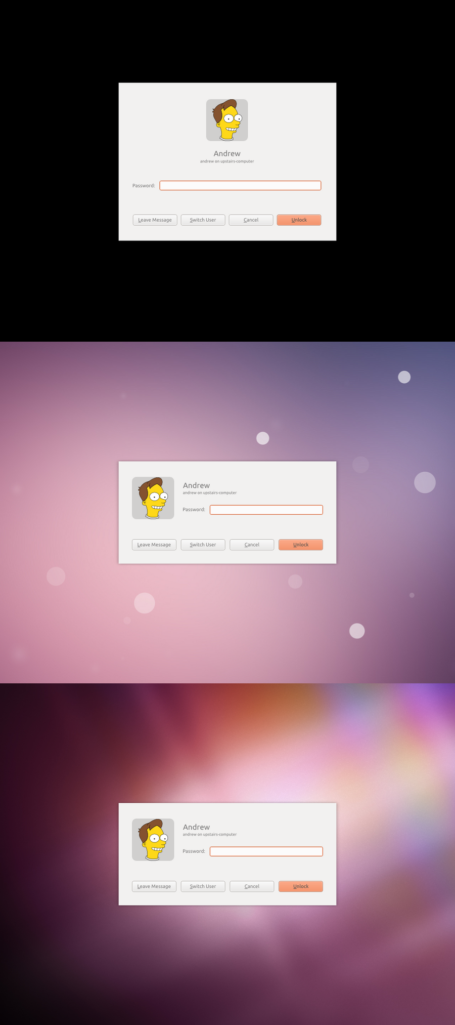 Lock Screen Dialog Mockup by and471