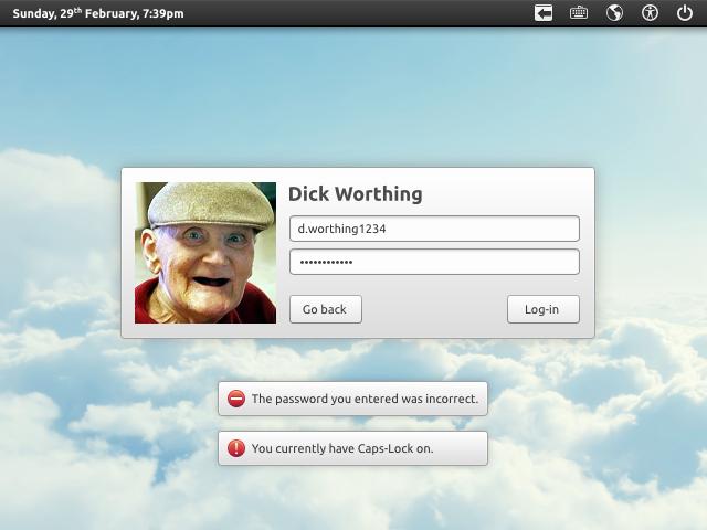 Login Screen - Messages