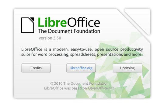 LibreOffice About Dialog Mockup