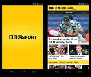 BBC Sport Android App Design
