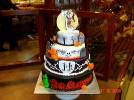 Jack Skellington wedding cake by buttercreamfantasies