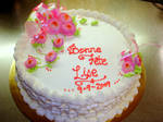 Simple birthday cake by buttercreamfantasies