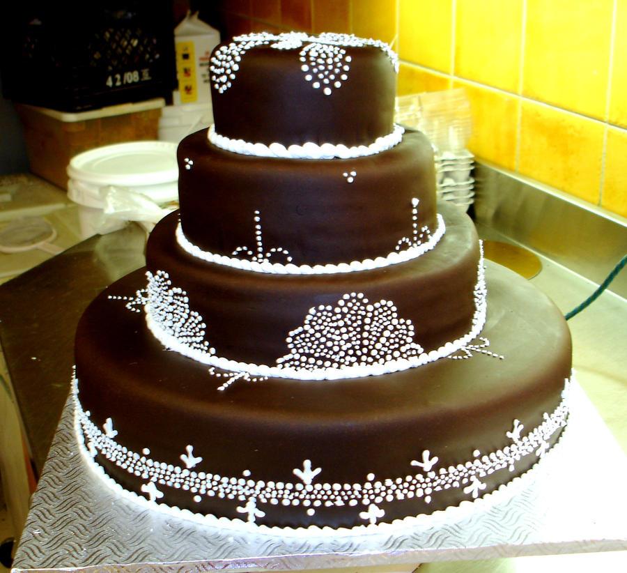 Cake Art White Chocolate Fondant : Chocolate fondant wedding cake by buttercreamfantasies on ...