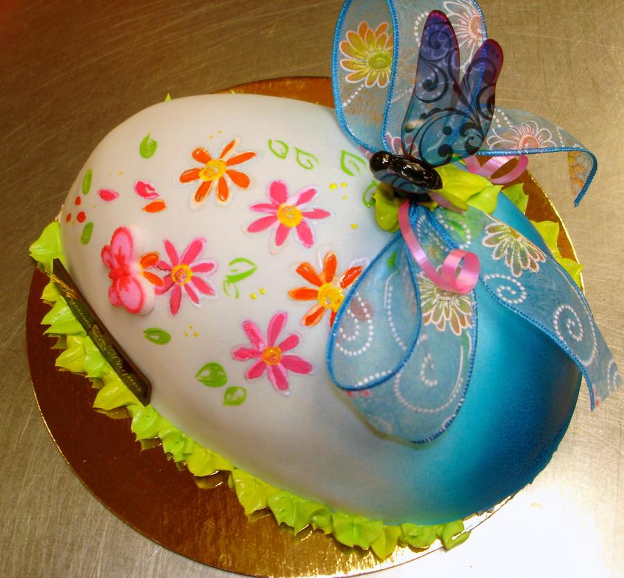 Blue easter egg cake by buttercreamfantasies on DeviantArt