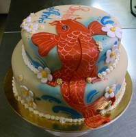 Koi anniversary cake by buttercreamfantasies