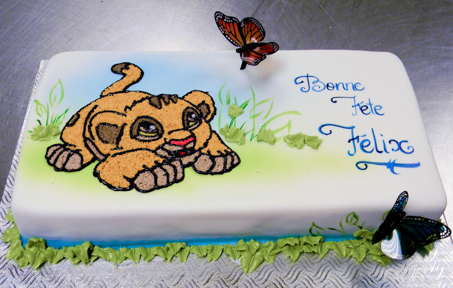 how to make a lion king cake